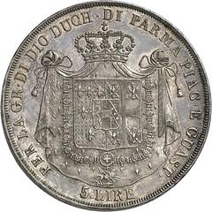 522r ITALY. Marie-Louise of Austria. 5 lire 1821