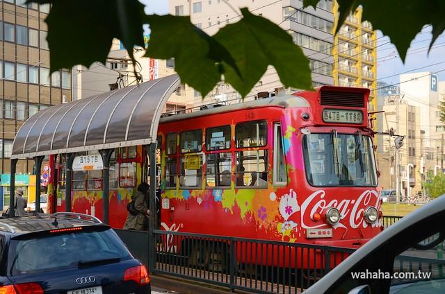 札幌市電コカコーラカラー電車