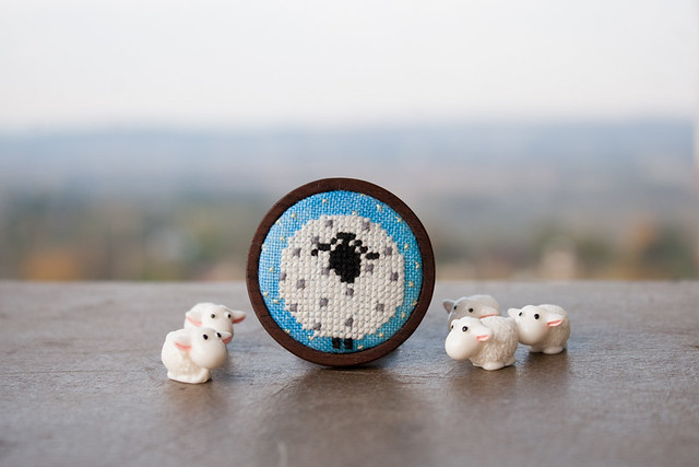 new brooch with lamb
