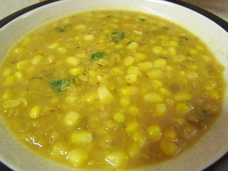 Curry-Red Lentil Corn Chowder