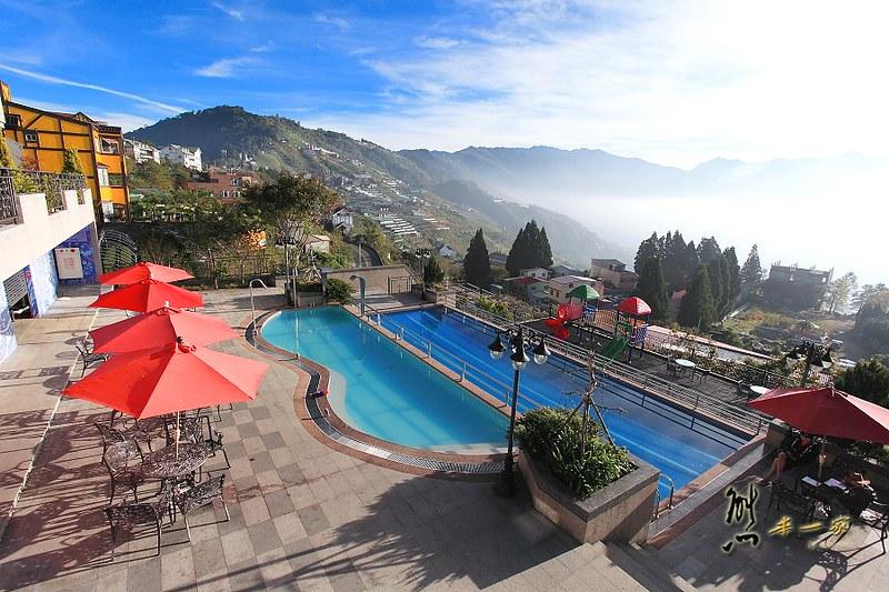 清境SPA泳池民宿|淳境景觀休閒山莊|還有兒童遊戲區、KTV、健身房、泡茶區設施超豐富
