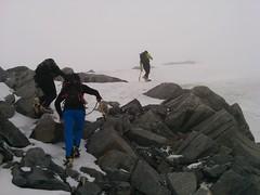 Die letzten Meter auf den Gipfel des Hohen Weißzint