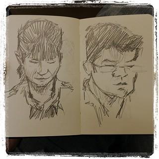 #japon #urbansketch #portraits #moleskine #pentel #kerry