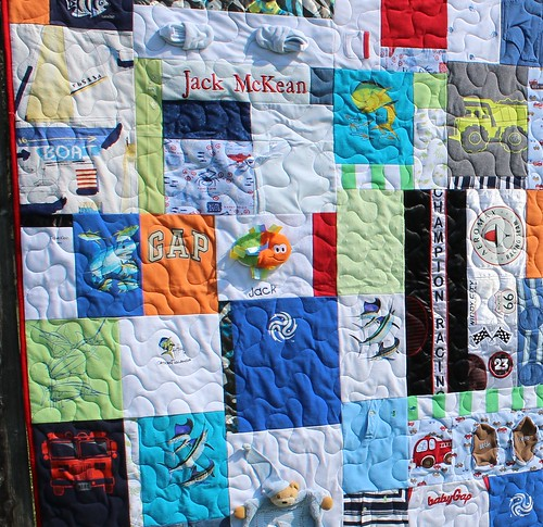 Katies Quilts And Crafts 2 Quilts Made Of Baby Clothes