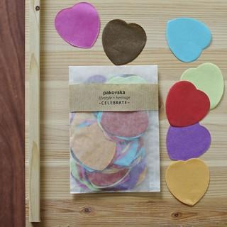 paper confetti hearts