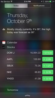 Notifications ของ iPhone 6 Plus