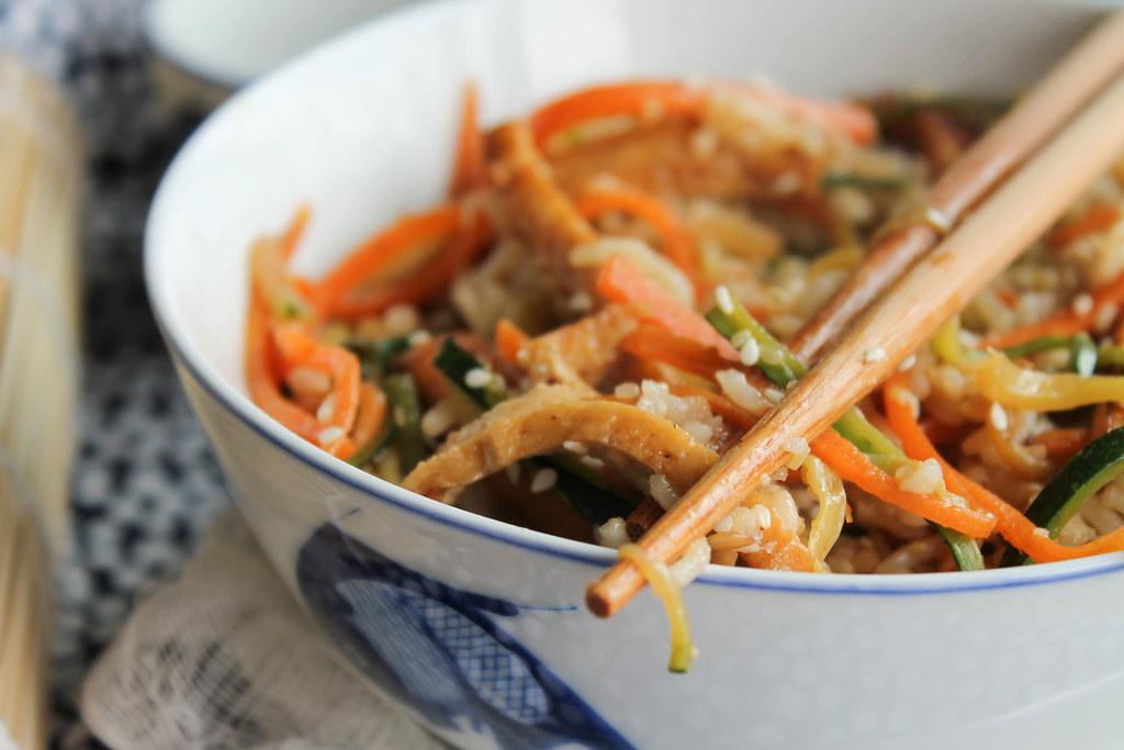 riz frit recette