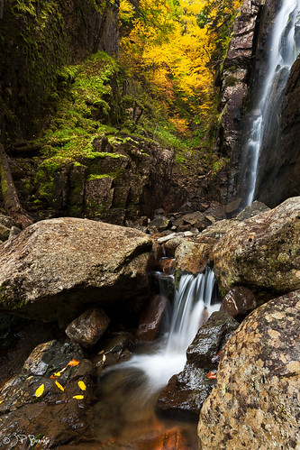 autumn bw ny leaves waterfall foliage gorge cascade adk adirondaks 1740l rainbowfalls highpeaks cpol cs6 lr5 5dii jpbenante