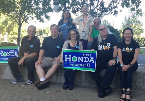 Canvassing for Mike Honda in San Jose with the Silicon Valley Kossacks