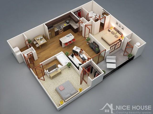 Phương án thiết kế căn hộ chung cư 1