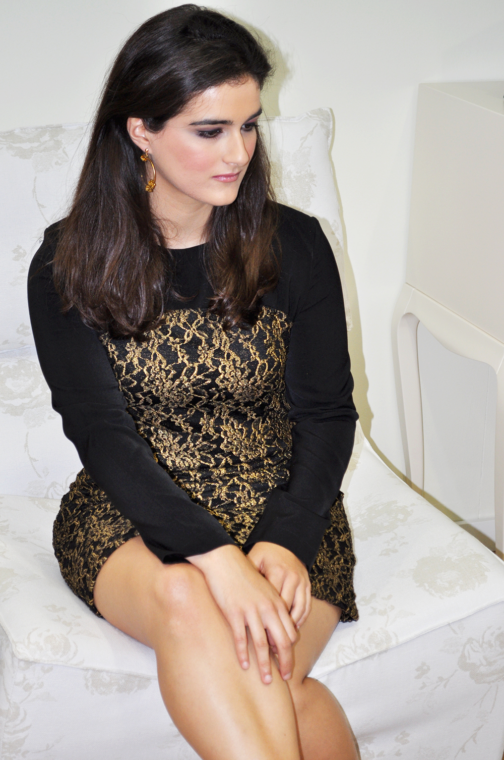 something fashion blogger valencia Letto El Andén de Marie Jo, PLACEVLC, collaboration new year's eve dresses lace party outfit, elegant look ideas christmas interior design