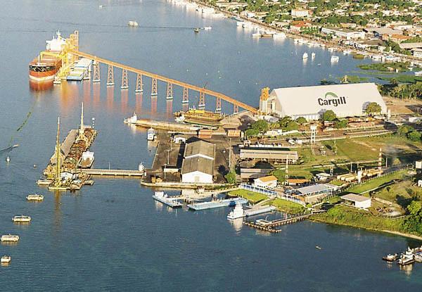 Porto de Santarém exportou 3,1% da soja produzida no Mato Grosso em 2017, Cargil-porto-em-Santarem