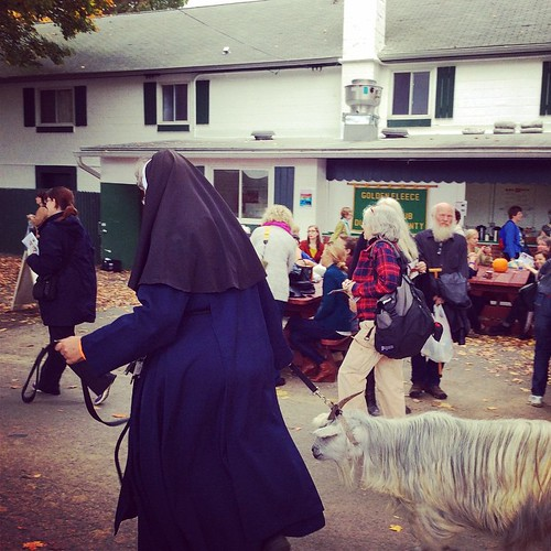 Caught the very end of the critter parade #rhinebeck #rhinebeck2014 #nysheepandwool