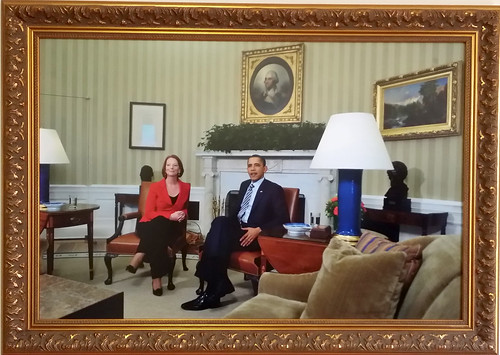 Julia Gillard with Barack Obama 1