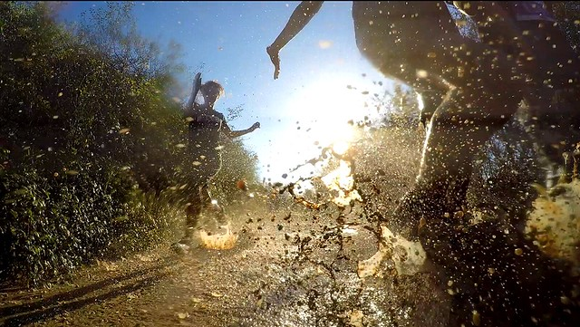gopro, mud, race
