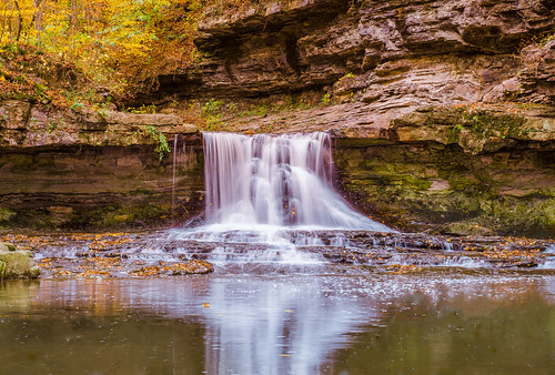 park nature water beauty leaves rock creek waterfall colorful long exposure seasons state time hiking sightseeing indiana climbing trail changing limestone preserves purity mccormicks