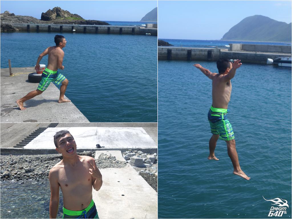 我在蘭嶼東清灣跳港!像孩子一樣單純,飛奔進大海