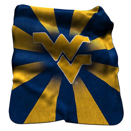 West Virginia Mountaineers NCAA Raschel Blanket