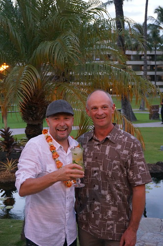 Ocean Vodka, Gabe Harvey and Ocean Vodka and Deep Island Hawaiian Rum Master Distiller Bill Scott