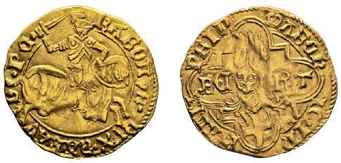 No. 605 ITALY. Savoy. Charles I, 1482-1490. Ducat