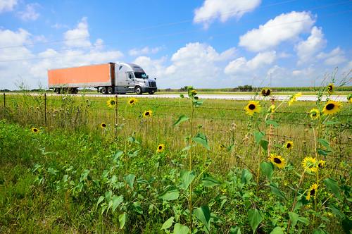 tractor truck illinois highway il interstate trailer 55 trucking i55 interstate55