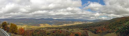 autumn trees panorama naturaleza fall nature clouds canon unitedstates pano bluesky wv westvirginia 7d otoño pendleton hackervalley