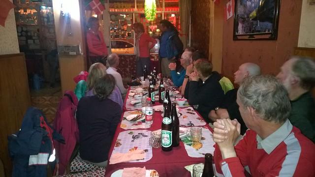 Tibetan farewell dinner, Zhangmu