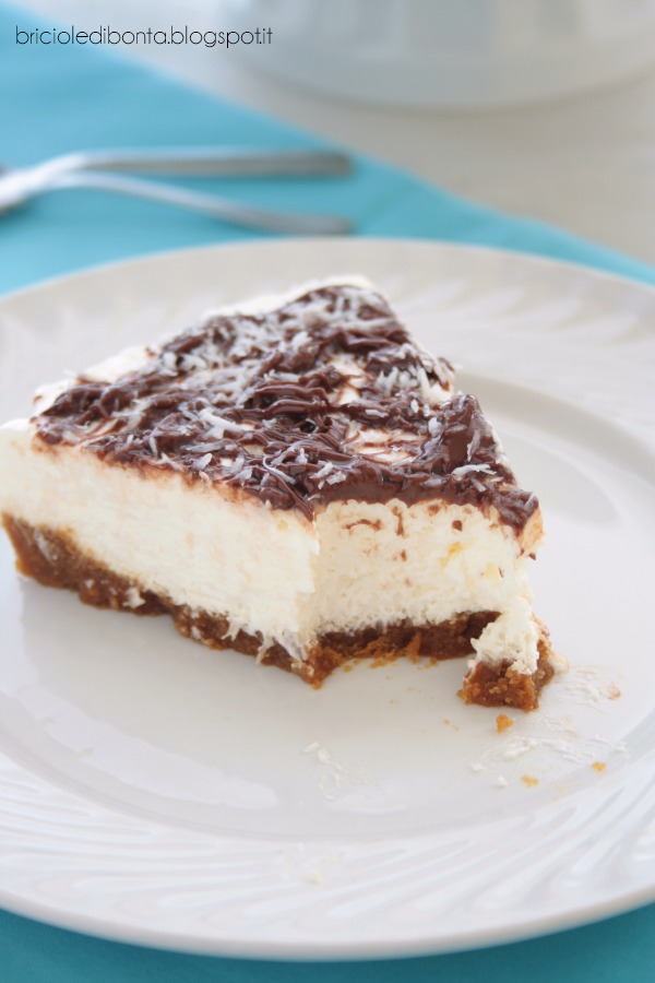 no bake coconut nutella cheesecake