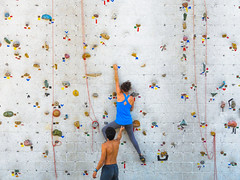 adventure(1.0), individual sports(1.0), sports(1.0), recreation(1.0), outdoor recreation(1.0), leisure(1.0), rock climbing(1.0), sport climbing(1.0), climbing(1.0), bouldering(1.0),