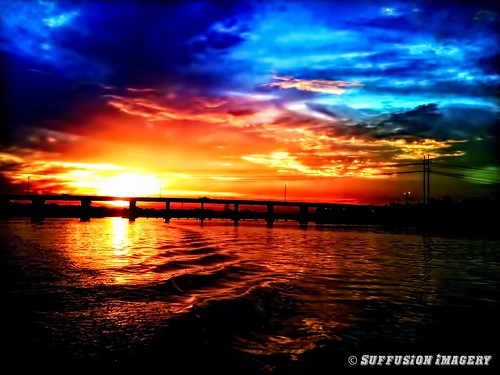bridge clouds sunrise tampa boat fishing unitedstates florida ruskin iphone