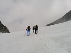 Aufstieg Gletscherfeld Hoher Weißzint