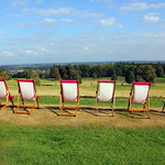 Deckchairs at Chirk