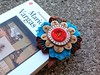 Felt flower corner bookmark