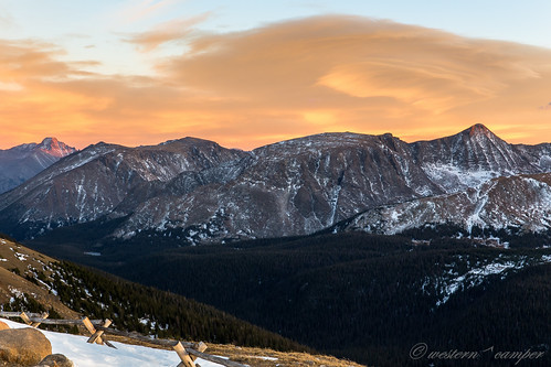 park sunset mountain snow mountains clouds colorado rocky ridge trail national western 14er camper