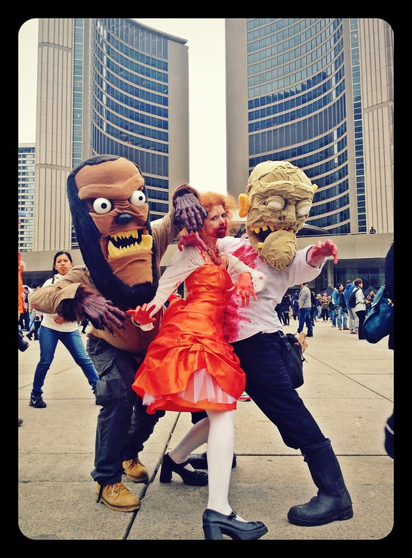 Toronto zombie walk and Halloween parade 2014.