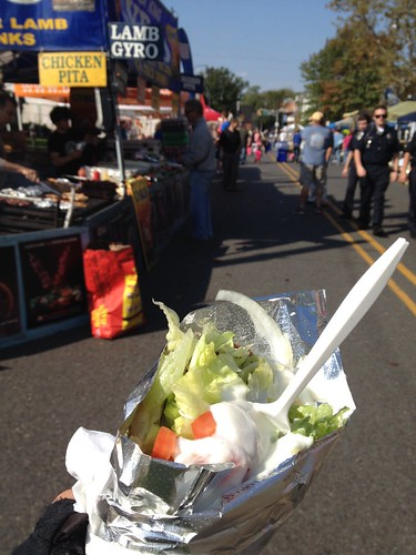 Street fair and gyro in Tom's River, NJ
