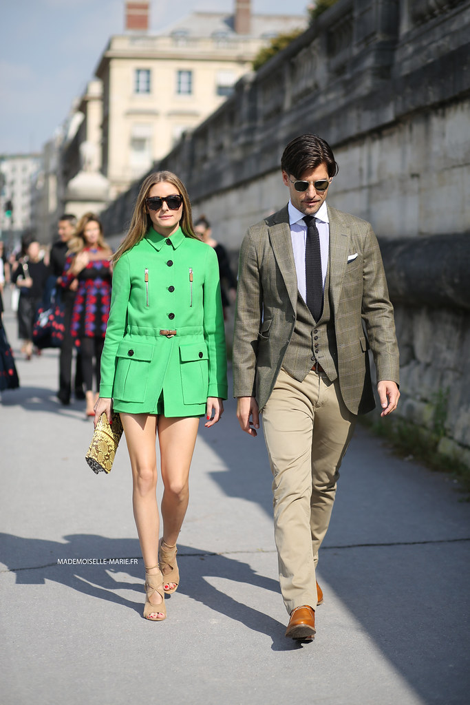 Olivia Palermo and Johannes Huebl at Paris fashion week