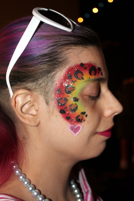 Rainbow Leopard Print Face Paint