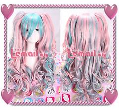 Lolita Piggies Pink/Blue Blend