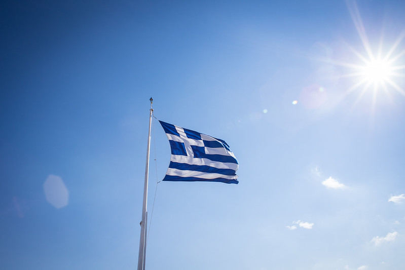 Greek Flag, Athens