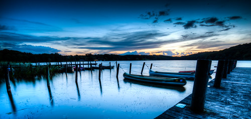 blue sunset sun lake night clouds denmark cloudy canoes sealand