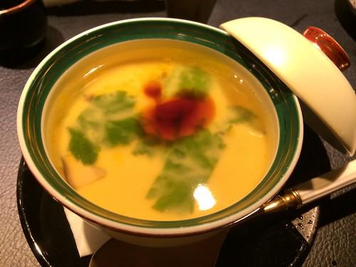 フォアグラと穴子の茶碗蒸し@鮨染井 金平 恵比寿