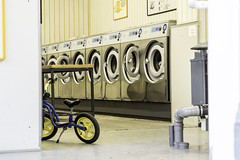 Training Bike in Self-Service Laundry