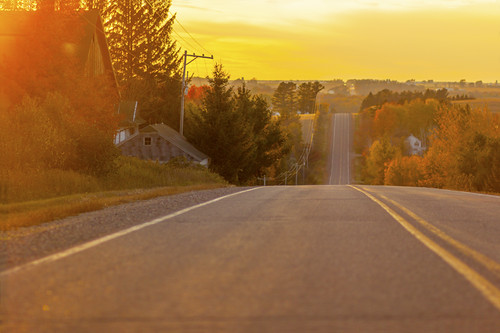 road sunset fall wisconsin canon highway 85mm falls rib wi 2014