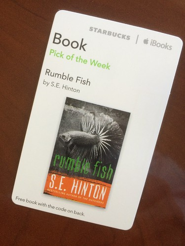 Starbucks iTunes Pick of the Week - Rumble Fish by S. E. Hinton