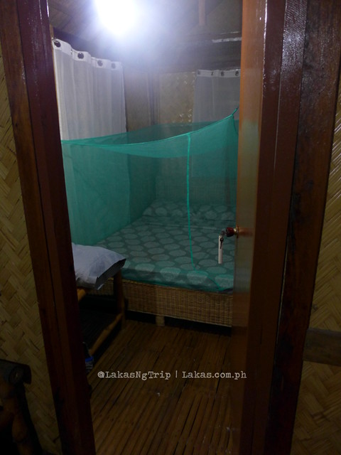 One of the rooms in the 2 room bungalow. Jack's Place in Nacpan Beach El Nido, Palawan, Philippines
