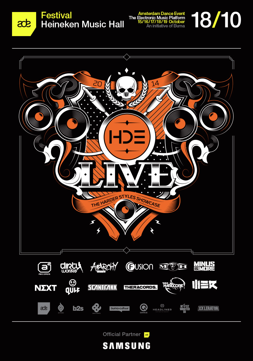 cyberfactory 2014 q-dance harder dance event live hde heineken music hall amsterdam
