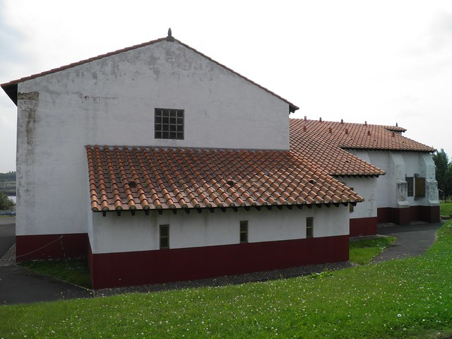 The replica Roman bath house at Segedunum fort in Wallsend