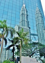 Reflections of the Petronas Towers.