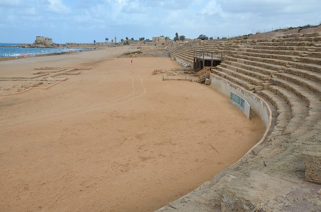 The hippodrome, built by Herod the Great for the inauguration of the city in 9/10 BC, it was the venue of the Actian Games instituted by King Herod in honor of emperor Augustus and held every 4 years, Caesarea